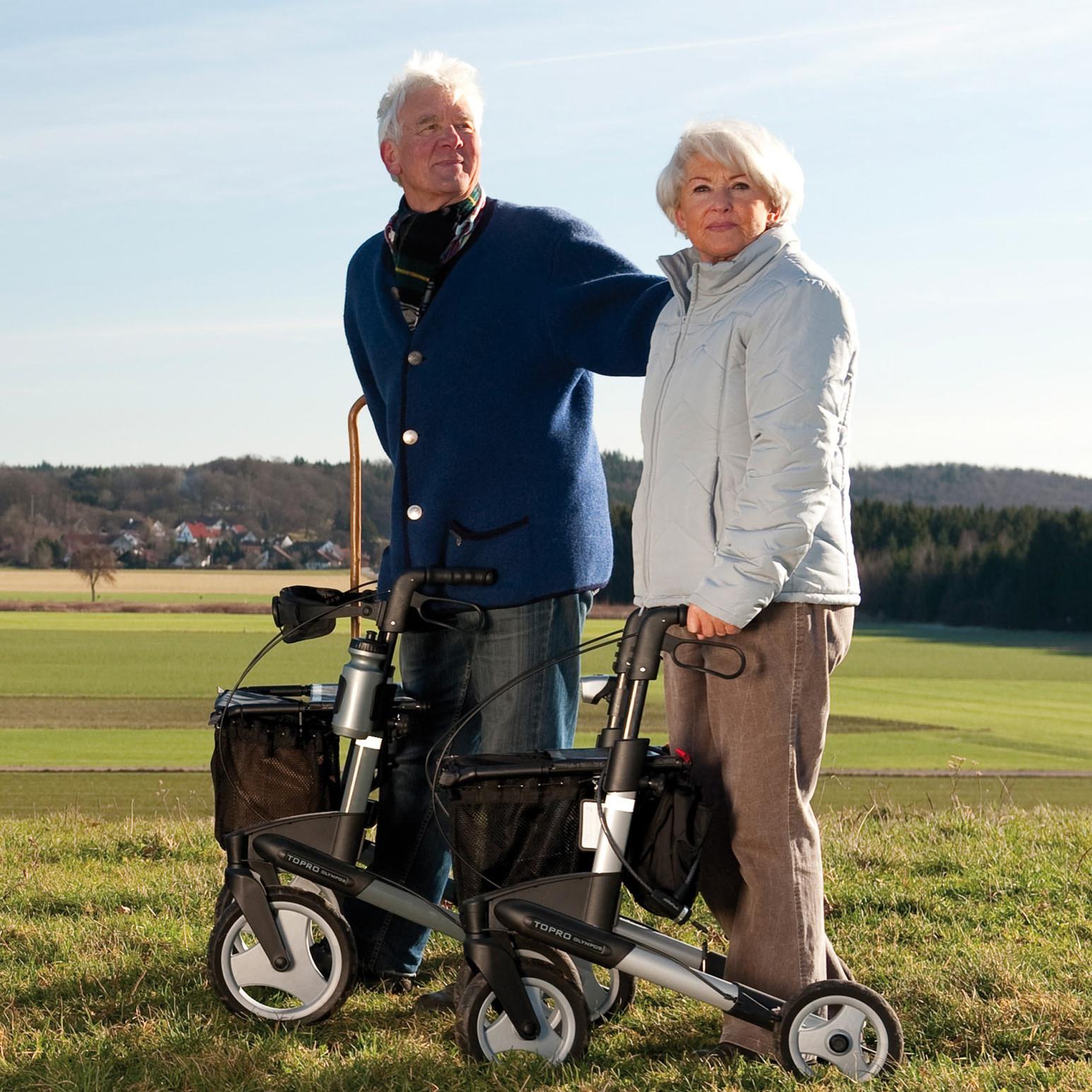 Rollator für Senioren, mobilmachen mit dem Rollator