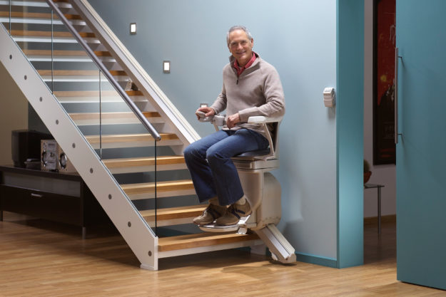 "Bild zum Treppenlift ""Lifta"" in Aktion"