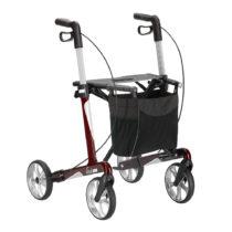 Rollator Vital in leichter Carbon-Bauweise, klappbar, mit Einkaufstasche