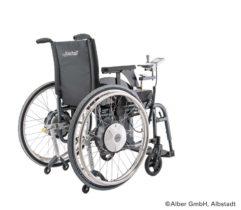 Motor an Rollstuhl bauen